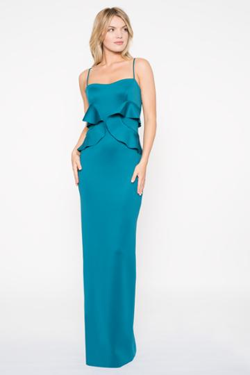 Black Halo Delray Gown In Jade, Size 0