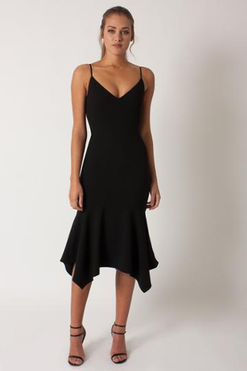 Black Halo Malik Dress In Black, Size 0
