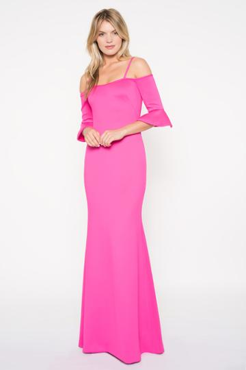 Black Halo Christian Gown In Iconic Pink, Size 0