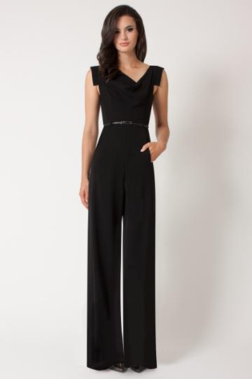 Black Halo Jackie Jumpsuit In Black, Size 8