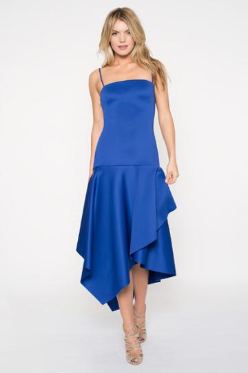 Black Halo Reynolds Gown In Sapphire, Size 0