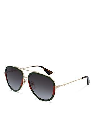 Gucci Aviator Sunglasses, 57mm