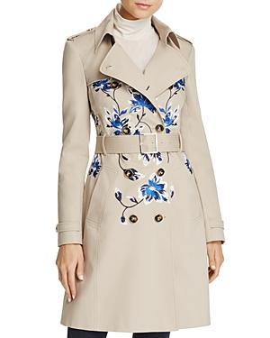 Karen Millen Floral Embroidered Trench Coat - 100% Exclusive