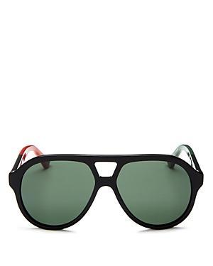 Gucci Color-block Aviator Sunglasses, 59mm