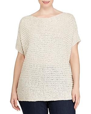 Lauren Ralph Lauren Plus Textured Short-sleeve Sweater