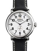 Shinola The Runwell Leather Strap Watch, 47mm