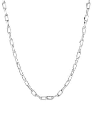 Charmbar Adjustable Link Chain Necklace In Sterling Silver Or 14k Gold-plated Sterling Silver, 16-18
