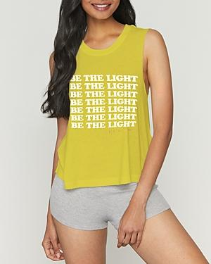 Spiritual Gangster Be The Light Cropped Tank Top