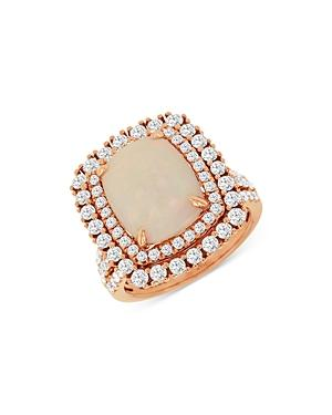 Bloomingdale's Opal & Diamond Statement Ring In 14k Rose Gold - 100% Exclusive
