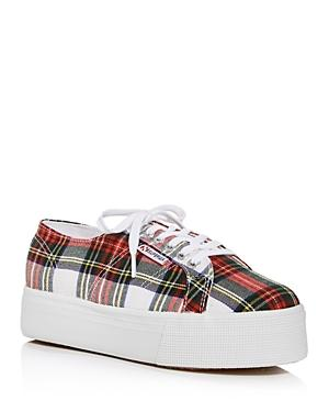 Superga Women's Tartan Low-top Platform Sneakers