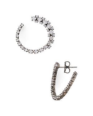 Nadri Tulle Hoop Earrings
