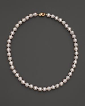 Tara Pearls Akoya 7.5mm Cultured Pearl Strand Necklace, 16
