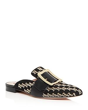 Bally Women's Janesse Logo-stud Buckled Mules