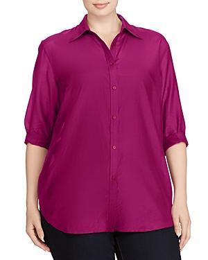 Lauren Ralph Lauren Plus Button-down Shirt