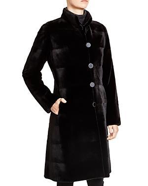 Maximilian Sheared Mink Reversible Coat - 100% Exclusive