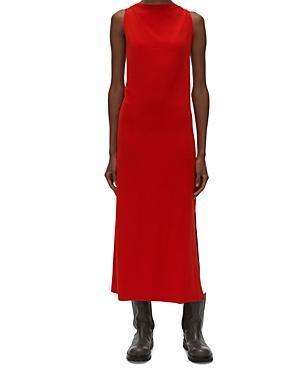 Helmut Lang Twisted Back Midi Dress