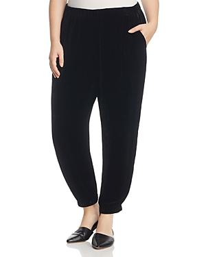 Eileen Fisher Plus Slouchy Velvet Ankle Pants