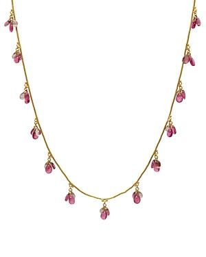 Gurhan 24k/18k Yellow Gold Mixed Stone Briolette Necklace, 16-18