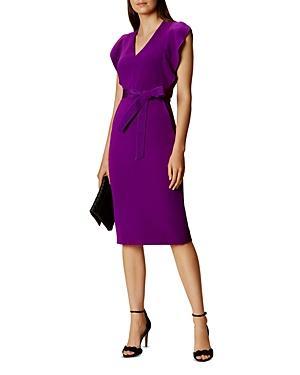 Karen Millen Ruffled Sleeve Dress