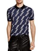 Msgm Regimental Stripe Slim Fit Polo Shirt