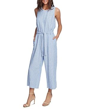 Vince Camuto Striped Belted Jumpsuit - 100% Exclusive