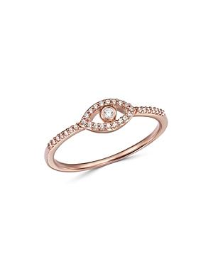 Bloomingdale's Diamond Evil Eye Ring In 14k Rose Gold, 0.10 Ct. T.w. - 100% Exclusive