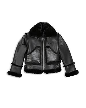 The Kooples Cropped Faux Leather Coat