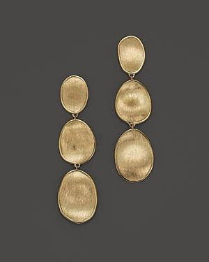 Marco Bicego 18k Yellow Gold Lunaria Three Tiered Drop Earrings