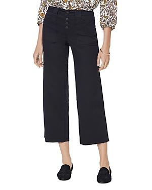 Nydj Teresa Wide Leg Ankle Jeans In Black