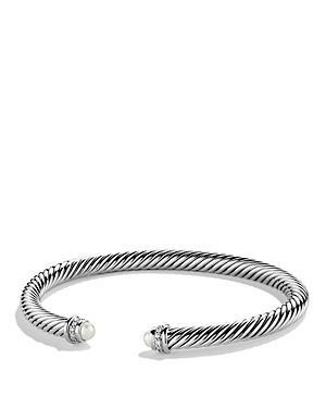 David Yurman Cable Classics Bracelet With Pearls & Diamonds