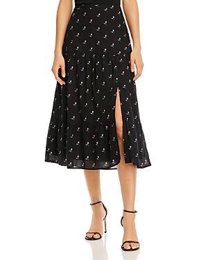 Paige Bestia Floral-print Skirt