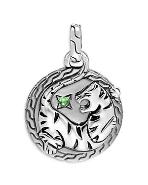 John Hardy Sterling Silver Legends Macan Pendant With Tsavorite