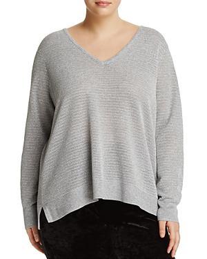 Nydj Plus Metallic Openwork Sweater