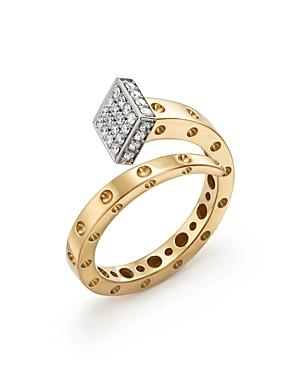 Roberto Coin 18k Yellow And White Gold Pois Moi Chiodo Ring With Diamonds - 100% Exclusive