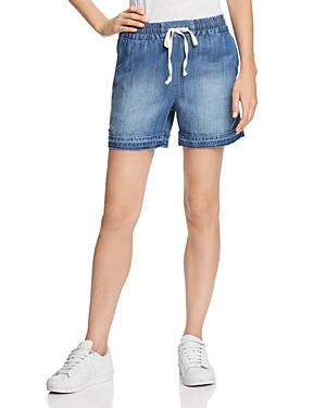 Splendid Released-hem Chambray Shorts