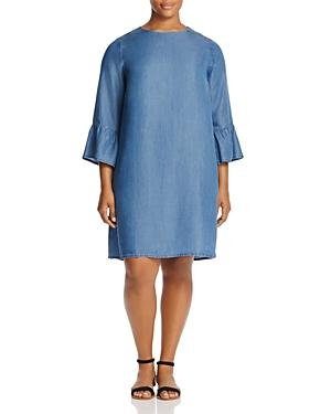 Alison Andrews Plus Chambray Bell-sleeve Dress