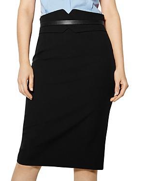 Karen Millen Notched Banded-waist Pencil Skirt