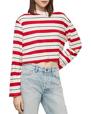 Allsaints Benno Striped Cropped Tee