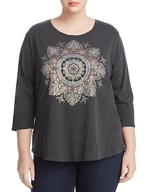 Lucky Brand Plus Medallion Foil Graphic Tee