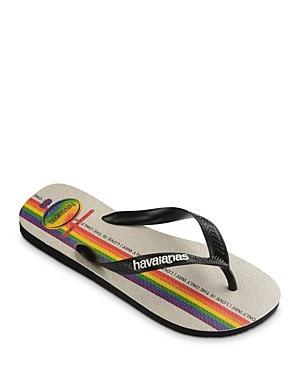 Havaianas Women's Top Pride Love Is The Only Way Rainbow Rubber Flip Flops