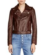 Maje Babylone Leather Biker Jacket