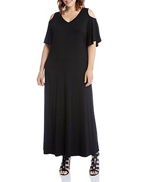 Karen Kane Plus Cold Shoulder Maxi Dress