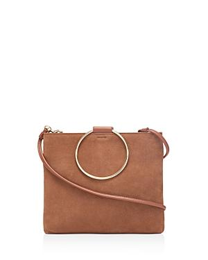 Thacker Le Pouch Suede And Leather Clutch