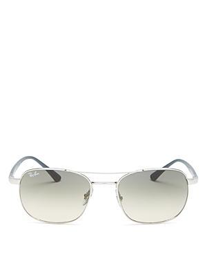 Ray-ban Unisex Brow Bar Square Sunglasses, 54mm