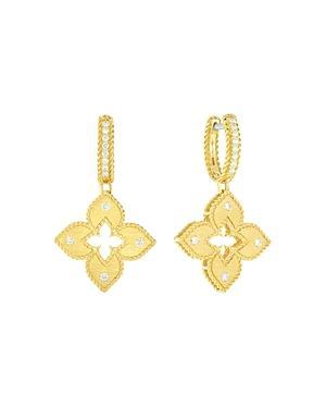 Roberto Coin 18k Yellow Gold Petite Venetian Diamond Drop Earrings