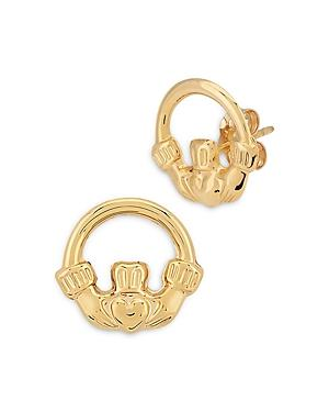 Bloomingdale's Claddagh Stud Earrings In 14k Yellow Gold - 100% Exclusive
