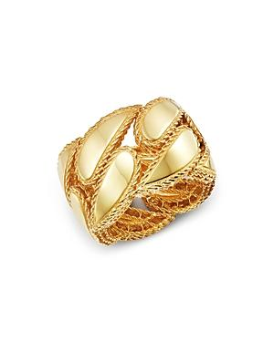 Roberto Coin 18k Yellow Gold Gourmette Ring