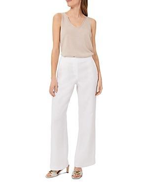 Hobbs London Jacinta Linen Wide-leg Trousers