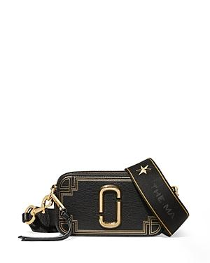 Marc Jacobs The Snapshot Gilded Leather Crossbody