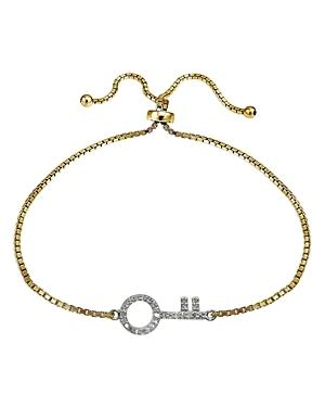 Marc & Marcella X Bloomingdale's Diamond Key Bracelet In 18k Gold-plated Sterling Silver, 0.29 Ct. T.w. - 100% Exclusive